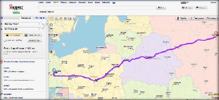 «Яндекс» запустил карту мира с автомобильными маршрутами