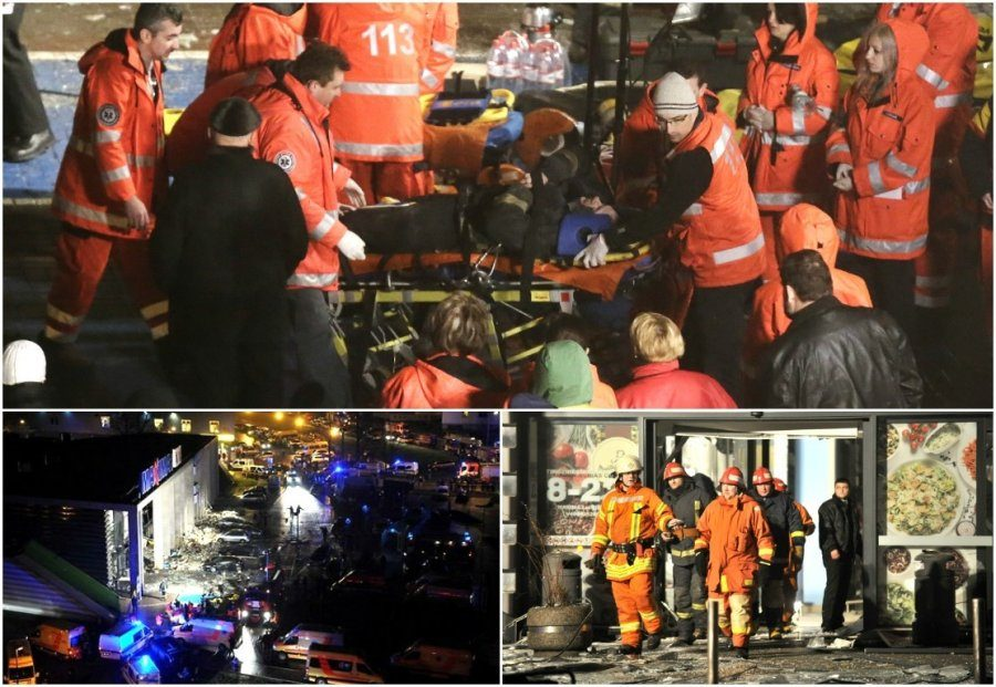 Под  обломками супермаркета в Риге погибло 54 человека