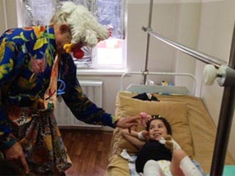 Доктор-клоун прибыл в Чечню