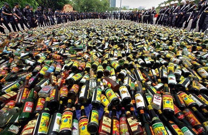 В Северной Осетии изъято более 40 000 бутылок нелегального алкоголя