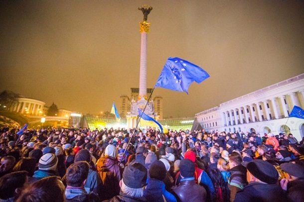 Украинцы митингуют из-за отсрочки вступления страны в ЕС