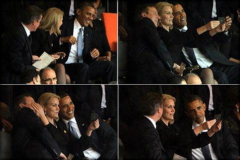 На панихиде Манделы отличился не только сурдопереводчик – шизофреник, но и Барак Обама