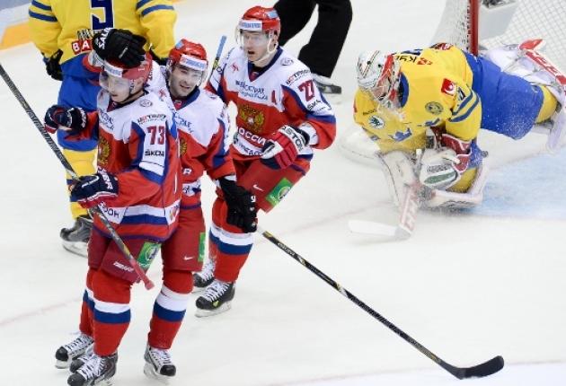 Российские хоккеисты обыграли шведов на старте Кубка Первого канала в Сочи