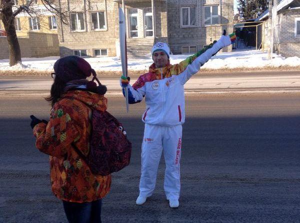 Владимир Умнов на Эстафете в Волгограде: