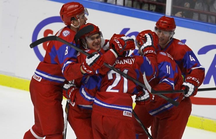 Молодежная сборная России вышла в полуфинал чемпионата мира по хоккею