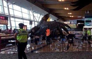 Орел Гэндальфа из «Хоббита» «напал» на людей в аэропорту Веллингтона