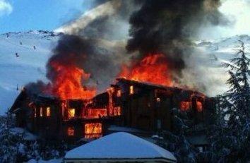 Русские спалили элитный горнолыжный отель в Испании