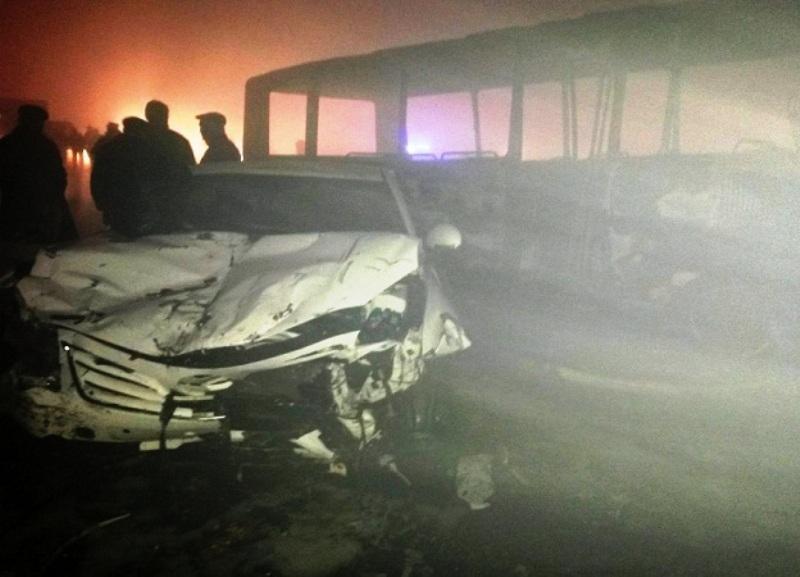 На трассе в Кабардино-Балкарии столкнулись 17 авто: 3 погибших