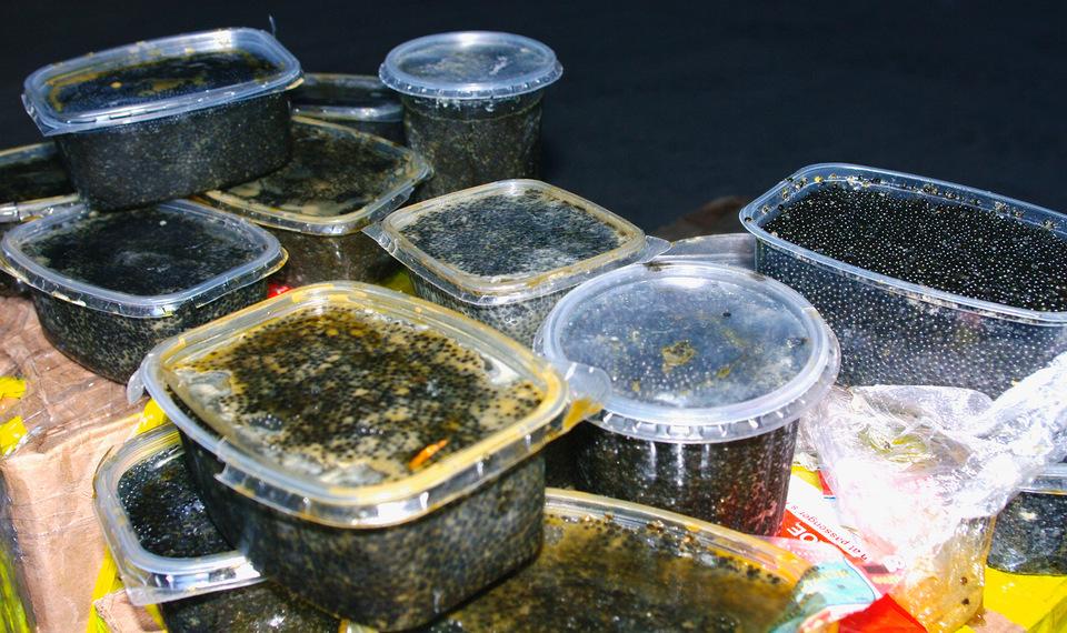 Десятки килограммов черной икры недорого обошлись двум жителям Красноярского края