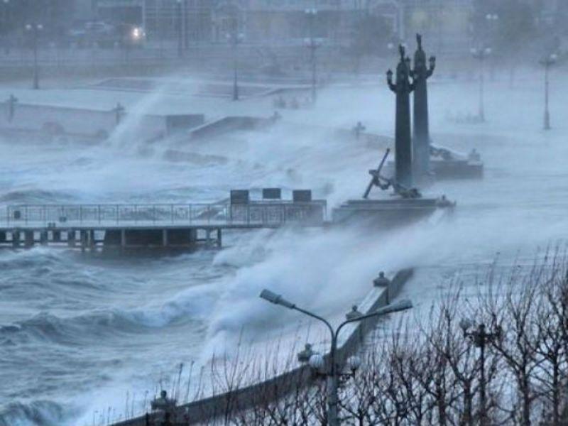 Эвакопункты открылись из-за урагана в школах Новороссийска