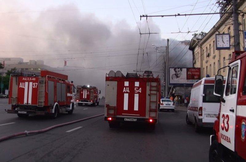 В центре Москвы горело кафе