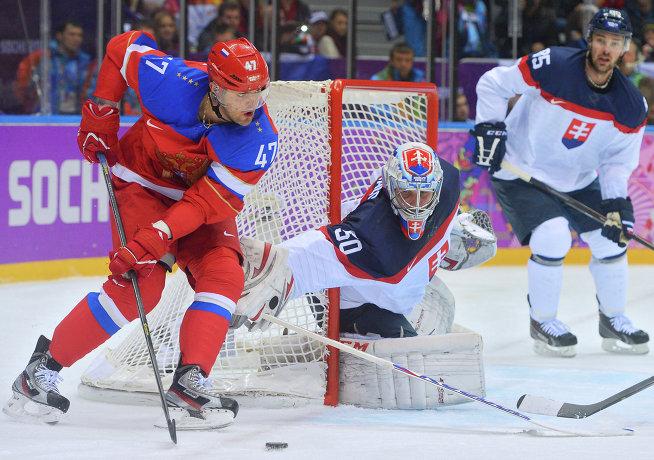 Сборная России по хоккею победила словаков лишь по буллитам