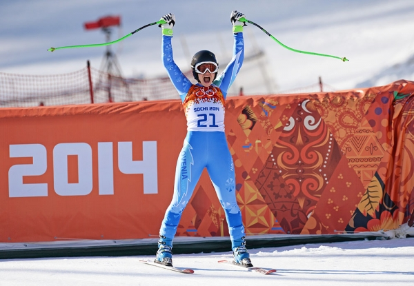 Олимпийскими чемпионками в скоростном спуске стали сразу две спортсменки