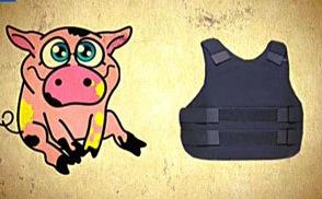 Британские военные, чтобы испытать бронежилеты, взрывали свиней