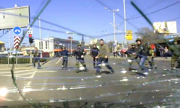 В Запорожье становится опасно ездить с российским флагом