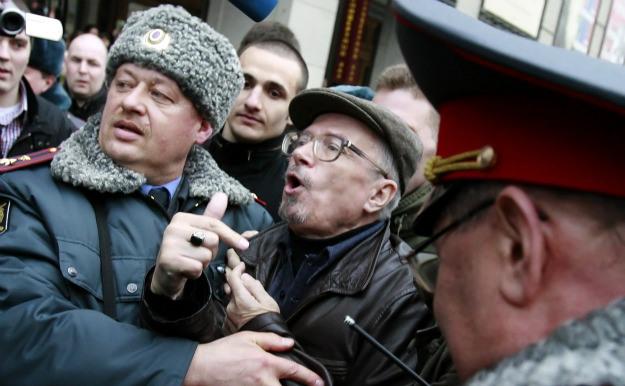 На несогласованной акции в Москве задержан Эдуард Лимонов