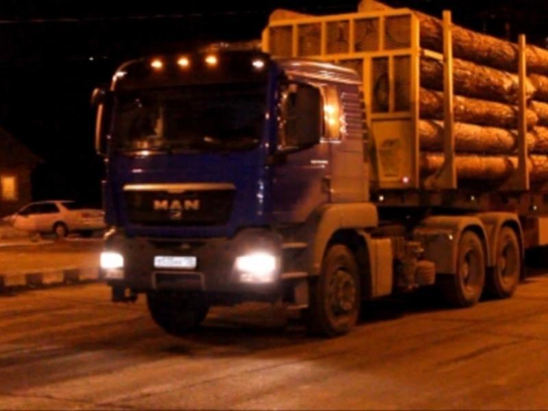 Полицейские в Иркутске задержали 18 груженых лесовозов