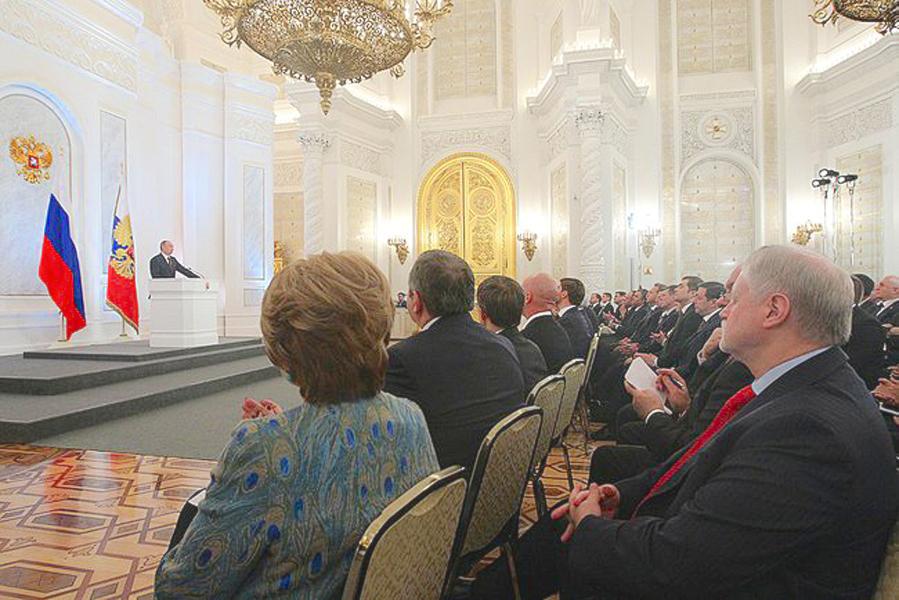 Сегодня в 15.00 Президент России выступит в Кремле с Посланием Федеральному Собранию