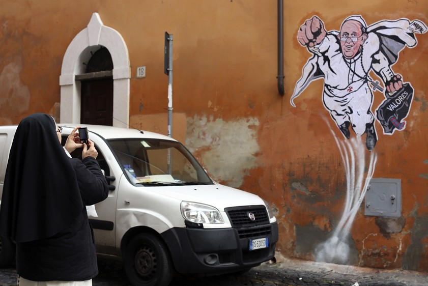 Изображение папы римского в образе супермена обидело понтифика