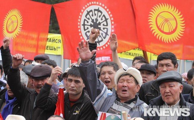 А в Бишкеке снова готовят революцию  - уже третью