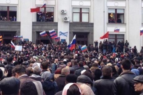 Сторонники Донецкой народной республики овладели зданием СБУ в Краматорске