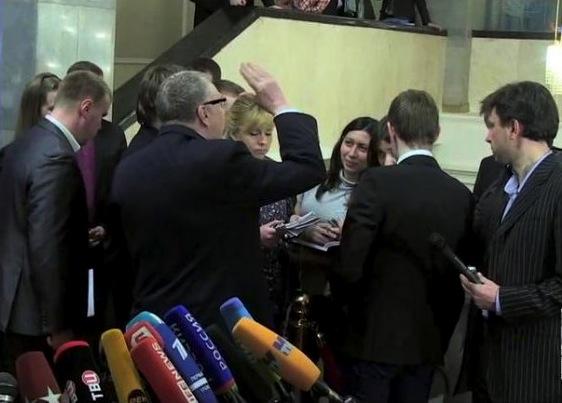 Обиженная Жириновским журналистка Стелла Дубовицкая подала заявление в полицию