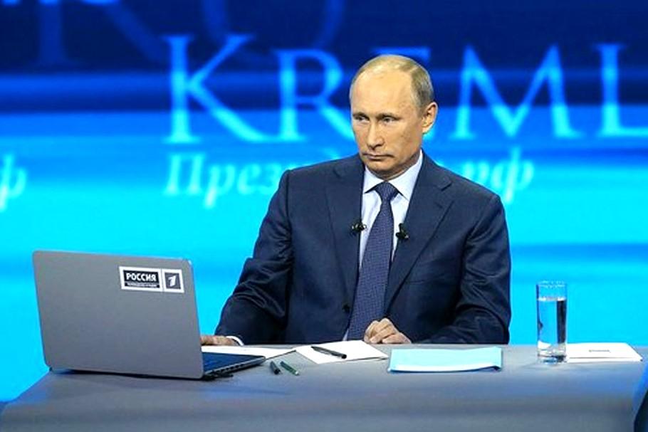 Онлайн трансляция прямой линии Владимира Путина
