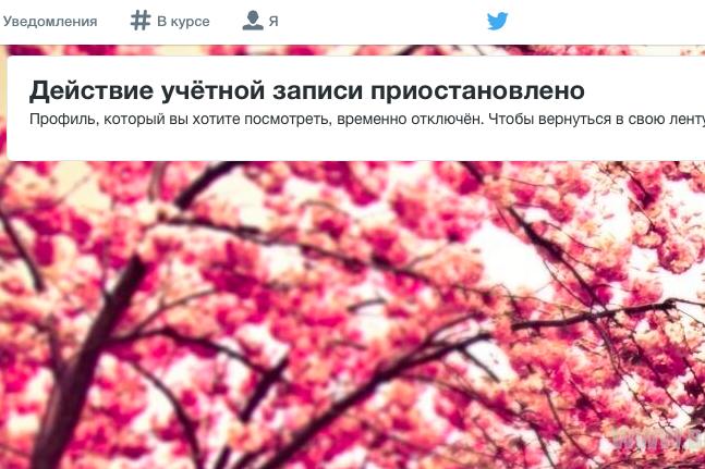 Twitter заблокировал аккаунт премьера Крыма Аксенова