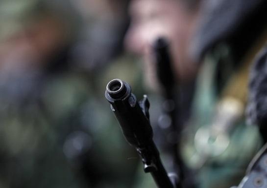 Украинские десантники рагромили блокпост ополченцев в селе Сергеевка