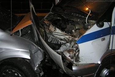 В Москве BMW протаранил полицейскую