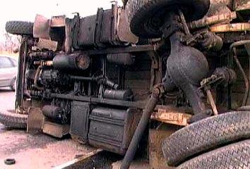 В Запорожской области перевернулся грузовик с украинскими военными