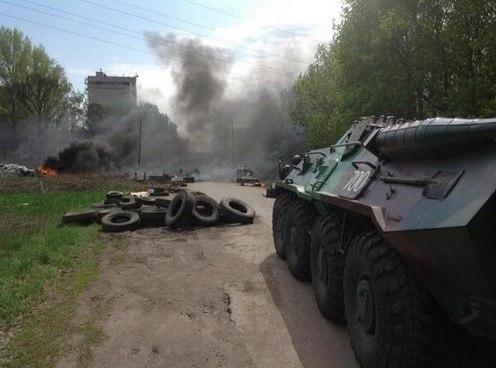 В Славянске убиты пять ополченцев