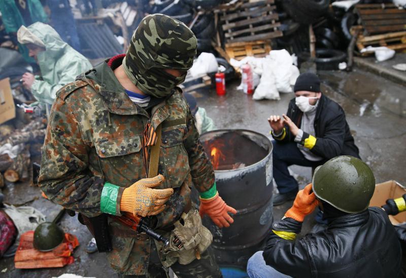 Под Славянском обстреляна группа ополченцев