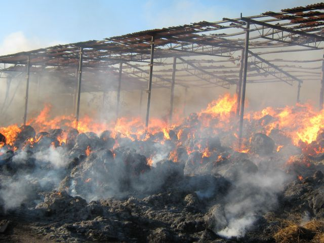 Из-за пасхального фейерверка в Хакасии сгорело 1,5 тонн сена