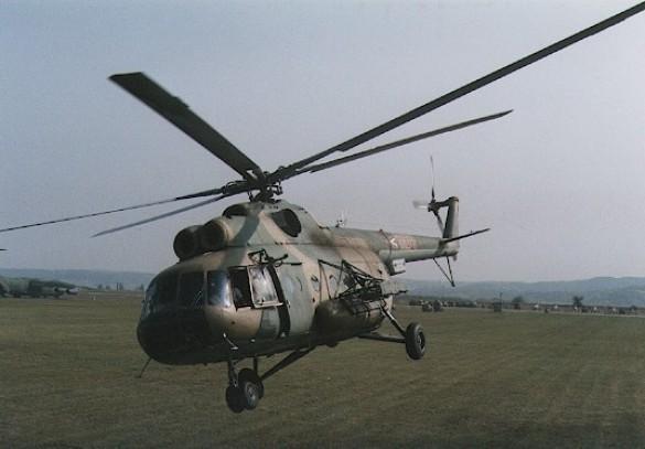 В Краматорске обстрелян вертолет МВД Украины