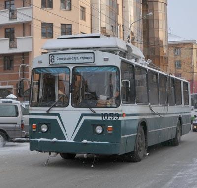 В Красноярске водитель троллейбуса во время работы вышла в магазин за рассадой
