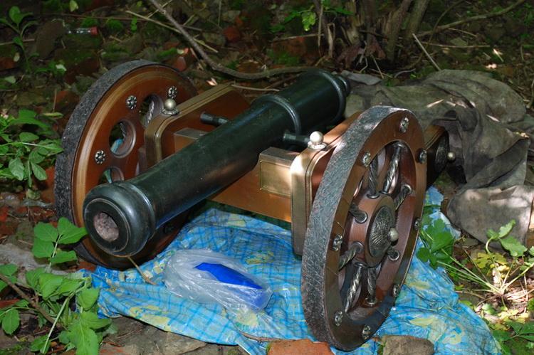 Пушку экс-министра обороны Украины нашли у сельской школы
