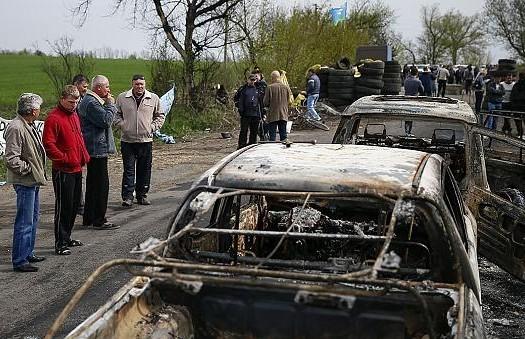 Журналистов ВГТРК обстреляли из минометов в Славянске
