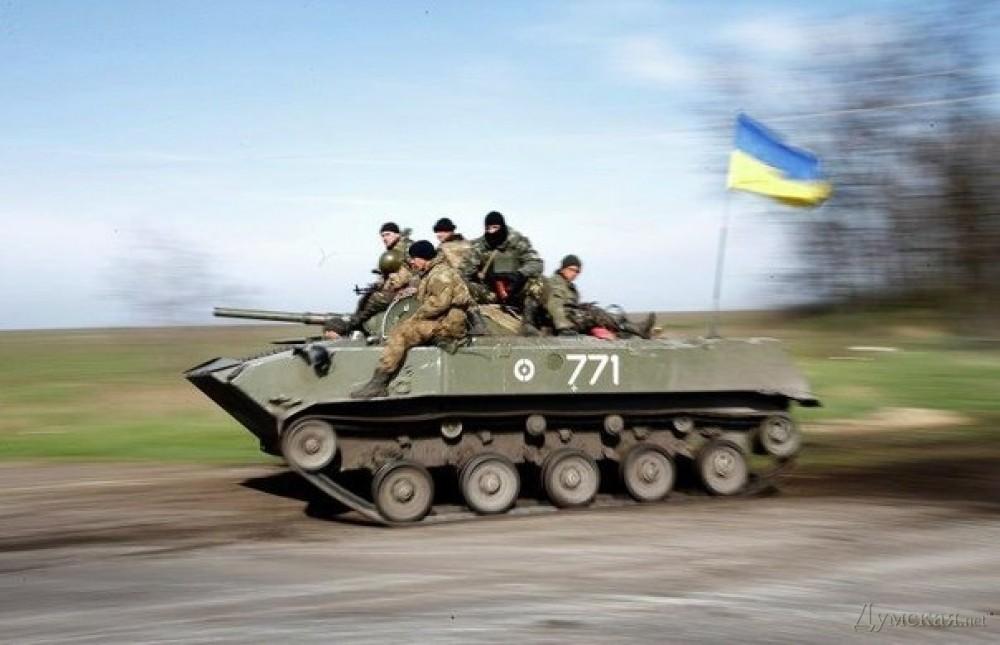 В сторону Мариуполя движется колонна украинской бронетехники