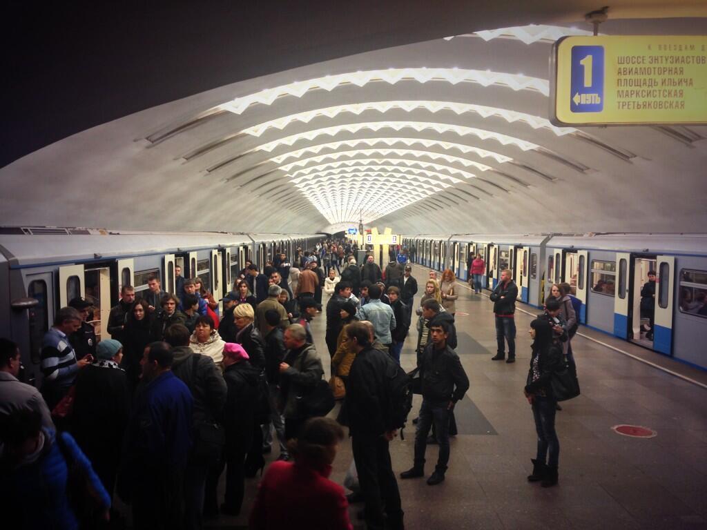 На Калининской ветке московского метро женщина спустилась на рельсы и отказывалась подниматься