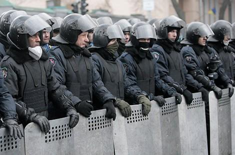 Бойцы украинского