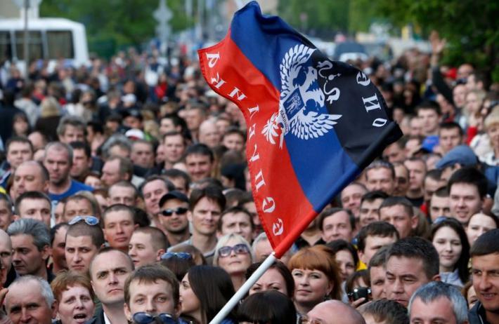 На митинге в Донецке назвали основные условия для переговоров с Киевом