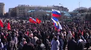 В Харькове прошел митинг в поддержку Донбасса