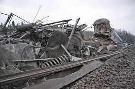 Учинивший аварию в Подмосковье товарный поезд принадлежит Украине