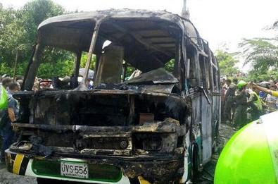 В Колумбии во время пожара в автобусе погиб 31 ребенок