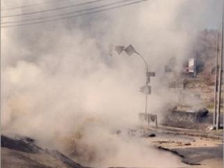 ЧП в Красноярске - из-под земли бьет многометровый фонтан кипятка