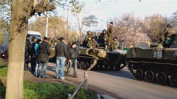 Ополченцы отбили у нацгвардии два блокпоста в Краматорске