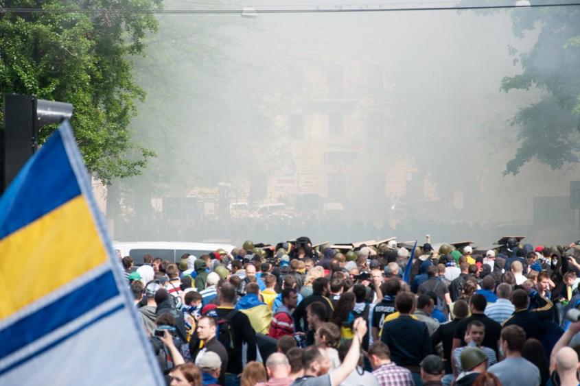 Милиция не нашла признаков применения отравляющих газов в Доме профсоюзов в Одессе