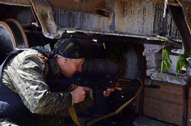 Под Краматорском ополченцы  уничтожили грузовик с боеприпасами