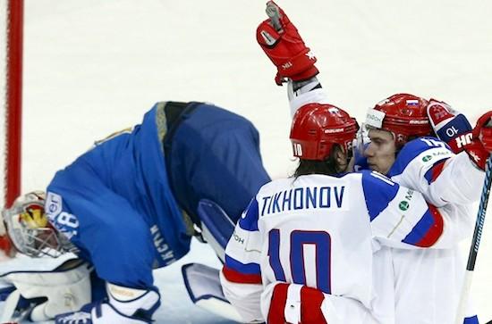 Сборная России победила хоккеистов Казахстана с крупным счетом